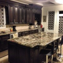 Azul's fancy black white kitchen