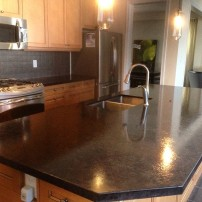 Azul's black brown countertop