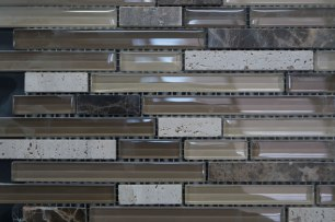 Azul's grey back splash tiles